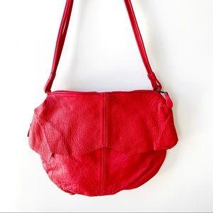 VTG red Stone Mountain skirted hobo bag